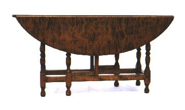 Gate Leg Table In Tiger Maple
